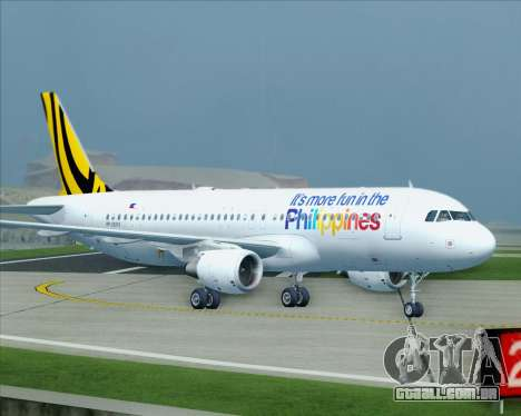 Airbus A320-200 Tigerair Philippines para GTA San Andreas vista superior