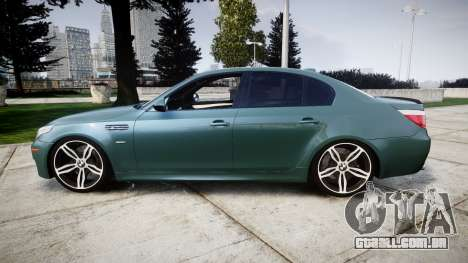 BMW M5 E60 v2.0 Stock rims para GTA 4 esquerda vista
