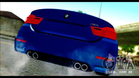 BMW M4 Stanced v2.0 para GTA San Andreas esquerda vista
