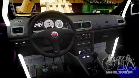Subaru Impreza WRC 1998 v4.0 SA Competio para GTA 4 vista de volta