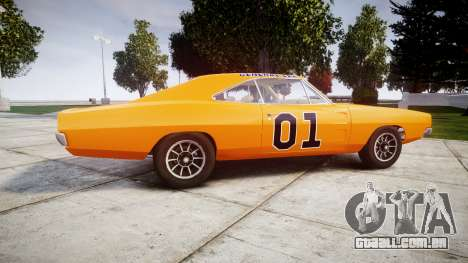 Dodge Charger RT 1969 General Lee para GTA 4 esquerda vista