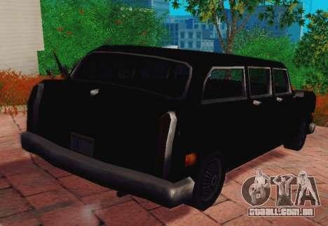 Cabbie Wagon para GTA San Andreas traseira esquerda vista