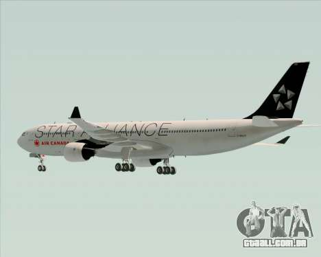 Airbus A330-300 Air Canada Star Alliance Livery para GTA San Andreas vista inferior