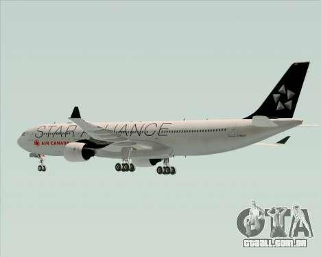 Airbus A330-300 Air Canada Star Alliance Livery para GTA San Andreas vista inferior