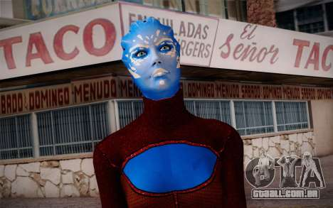 Asari Dancer from Mass Effect para GTA San Andreas terceira tela