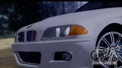 BMW M3 E46 Sedan para GTA San Andreas vista direita