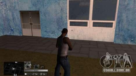 C-HUD Silver para GTA San Andreas segunda tela