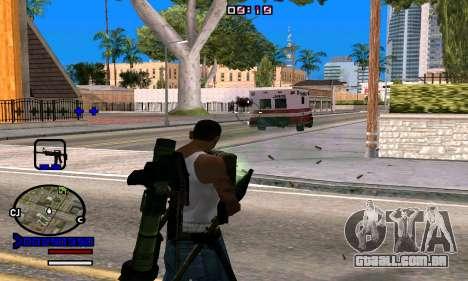 C-HUD Normal para GTA San Andreas por diante tela