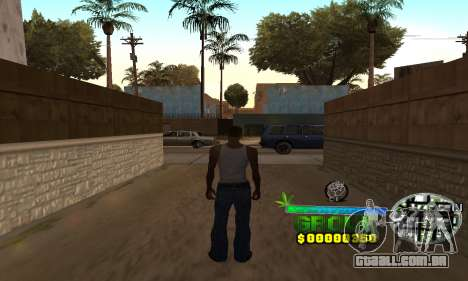 C-HUD Groove Street para GTA San Andreas por diante tela