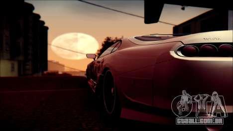 Toyota Supra Street Edition para vista lateral GTA San Andreas