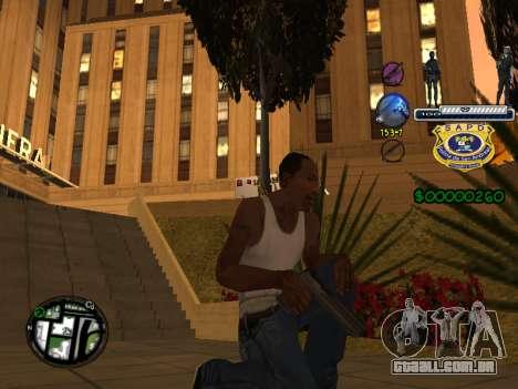 C-HUD Police S.A.P.D para GTA San Andreas terceira tela