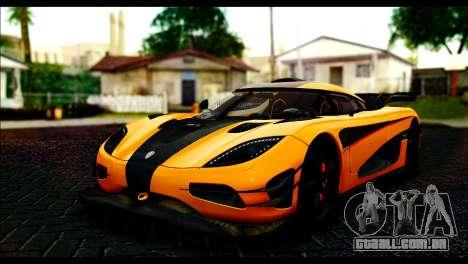 Koenigsegg One:1 v2 para GTA San Andreas