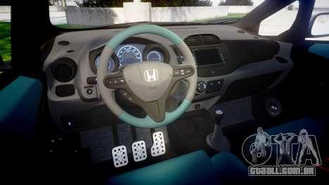 Honda Fit 2006 Sharpie para GTA 4 vista interior