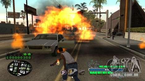 C-HUD Smoke Weed para GTA San Andreas quinto tela