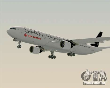 Airbus A330-300 Air Canada Star Alliance Livery para GTA San Andreas esquerda vista