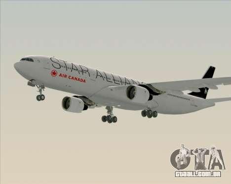 Airbus A330-300 Air Canada Star Alliance Livery para GTA San Andreas esquerda vista