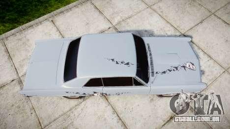 Pontiac GTO 1965 skull para GTA 4 vista direita