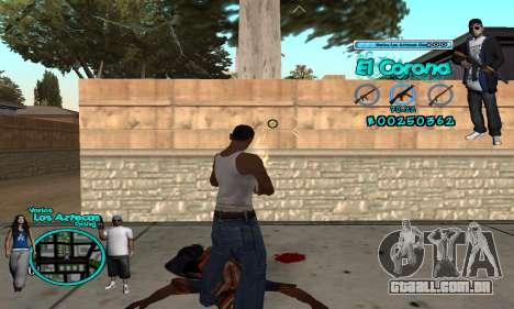 C-HUD Aztec El Corona para GTA San Andreas terceira tela