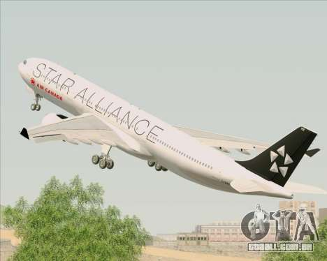 Airbus A330-300 Air Canada Star Alliance Livery para GTA San Andreas