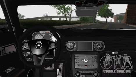 Mercedes-Benz SLS AMG para GTA San Andreas traseira esquerda vista