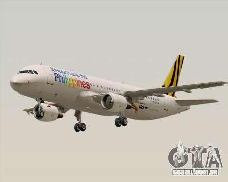 Airbus A320-200 Tigerair Philippines para GTA San Andreas traseira esquerda vista