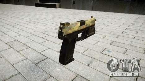 Pistola HK USP 45 flora para GTA 4 segundo screenshot