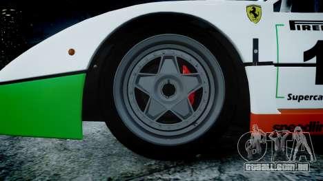 Ferrari F40 1987 [EPM] Jolly Club para GTA 4 vista de volta