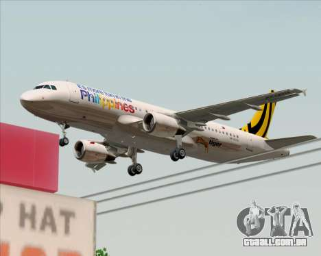 Airbus A320-200 Tigerair Philippines para GTA San Andreas vista inferior