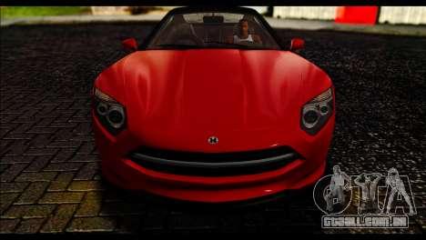 GTA 5 Hijak Khamelion IVF para GTA San Andreas traseira esquerda vista