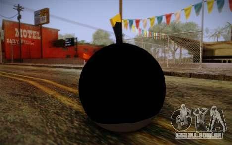Black Bird from Angry Birds para GTA San Andreas segunda tela