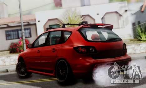 Mazda 3 MPS para GTA San Andreas esquerda vista