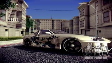 Toyota Supra Street Edition para GTA San Andreas vista direita