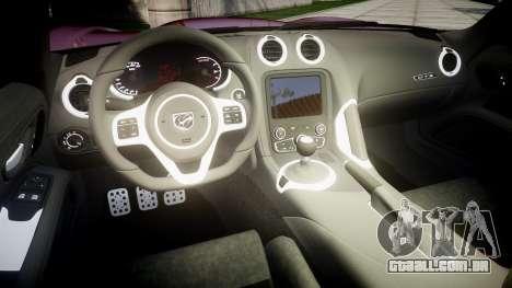 Dodge Viper SRT GTS 2013 para GTA 4 vista interior