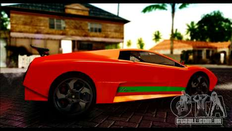 GTA 5 Pegassi Infernus [HQLM] para GTA San Andreas traseira esquerda vista