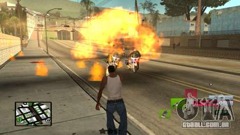 C-HUD by SampHack v.19 para GTA San Andreas terceira tela