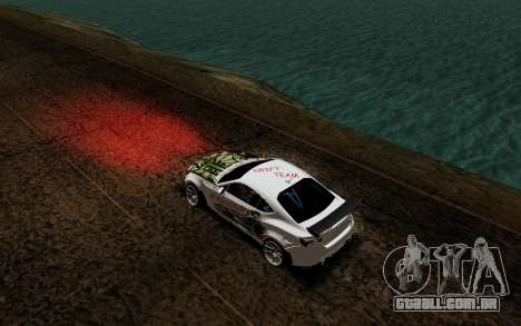 Subaru BRZ VCDT para GTA San Andreas vista traseira