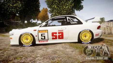 Subaru Impreza WRC 1998 v4.0 SA Competio para GTA 4 esquerda vista