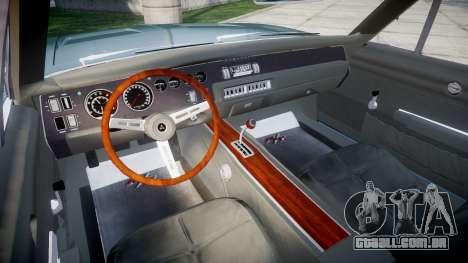 Dodge Charger RT 1969 para GTA 4 vista de volta