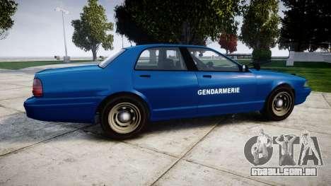 GTA V Vapid Police Cruiser Gendarmerie2 para GTA 4 esquerda vista