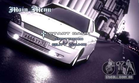Menu Russo Carros para GTA San Andreas segunda tela