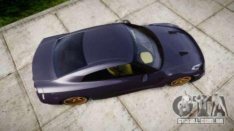 Nissan GT-R R35 2012 para GTA 4 vista direita