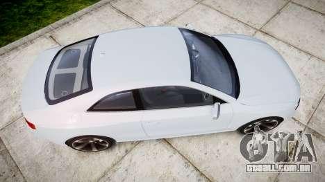 Audi RS5 2012 v2.0 para GTA 4 vista direita