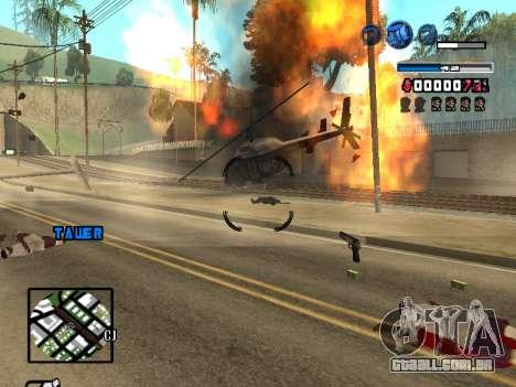 C-HUD Fantastik para GTA San Andreas quinto tela