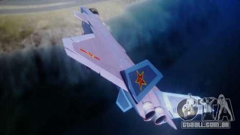 Chenyang J-20 Air Force BF4 para GTA San Andreas traseira esquerda vista