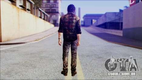Joel from The Last Of Us para GTA San Andreas segunda tela