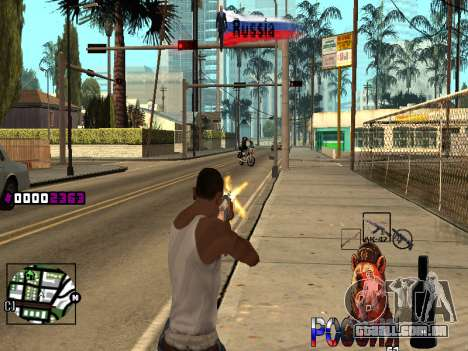C-HUD RussiA para GTA San Andreas por diante tela
