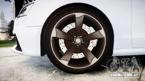 Audi RS5 2012 v2.0 para GTA 4 vista de volta