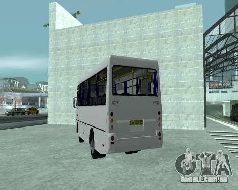 I-Van A07A para GTA San Andreas traseira esquerda vista