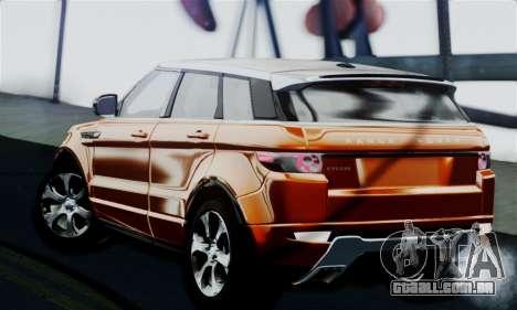 Range Rover Evoque 2014 para GTA San Andreas esquerda vista