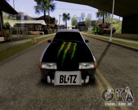 Elegy v2.0 para GTA San Andreas traseira esquerda vista